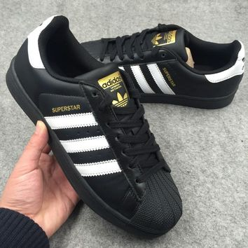 Adidas Superstar sport Black sneakers Casual Skateboard shoes