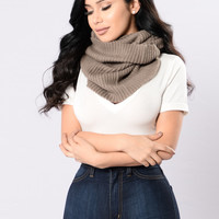 Around And Round Infinity Scarf - Khaki