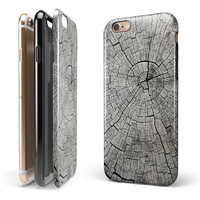 Aged Cracked Tree Stump Core iPhone 6/6s or 6/6s Plus 2-Piece Hybrid INK-Fuzed Case