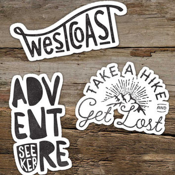 inspirational adventure sticker vinyl sticker decal