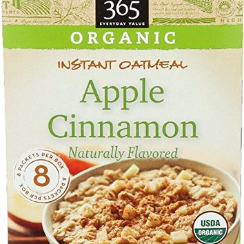 365 Everyday Value, Organic Instant Oatmeal Apple Cinnamon, 1.41 oz, 8 ct