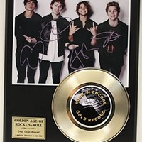 5 Seconds To Summer Gold Record Signature Series LTD Edition Display
