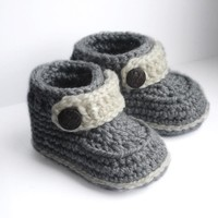 Baby Booties for boys and girls, N.106 by Beatifico - Craftsy