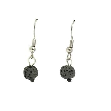 """Soul"" Single Lava Stone Essential Oil Diffuser Earrings Set"