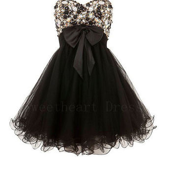 Charming Sweetheart Strapless Embellished Prom Dresses from Cute Girls