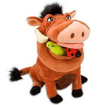 "Disney Store The Lion King 14"" Pumbaa Plush Stuffed Animal Toy"