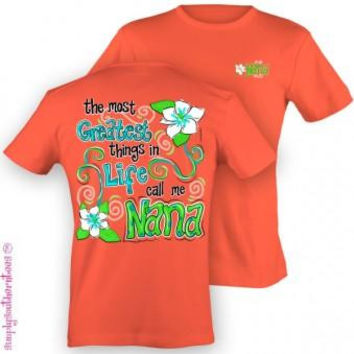 Simply Southern Funny Nana Grandkids Sweet Girlie Bright T Shirt