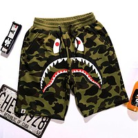 AAPE BAPE Summer Classic Hot Sale Men Women Camouflage Casual Running Sport Shorts Green