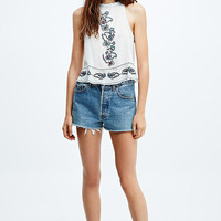 Ecote Eleanor Crochet Trim Tank in Ivory - Urban Outfitters