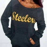 "Deep Gray ""Steelers"" Sweatshirt"