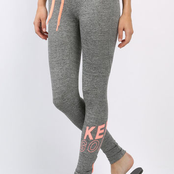 Active Zipper Detail Leggings