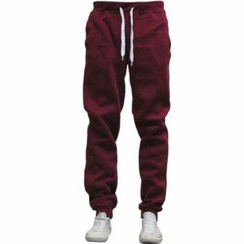 VONE05F8 men fleece lined pants warm track pants casual sportswear joggers sweatpants long tracksuit trousers plus size 3xl