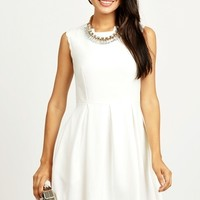 LAB SMITTEN WITH SCALLOPS DRESS WHITE - Love & Bravery