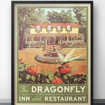 Dragonfly Inn Vintage Poster - Inspired by Gilmore Girls
