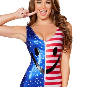 Happy Fourth of July Flag Romper