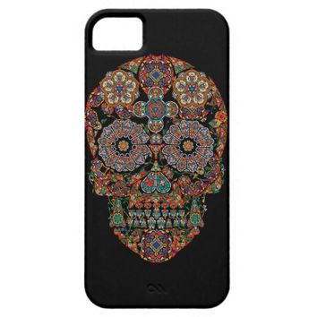 Day of the Dead Colorful Vintage Sugar Skull iPhone 5 Case
