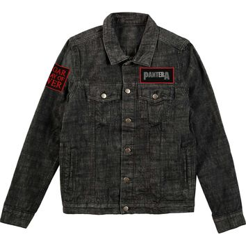 Pantera Men's  Pantera Denim Jacket Denim Jacket Denim Rockabilia