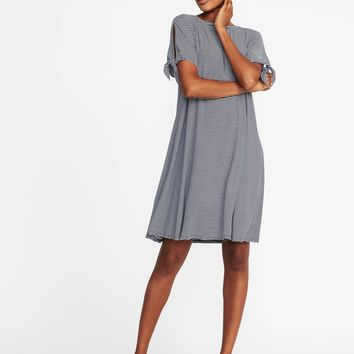 Tie-Sleeve Jersey Dress for Women | Old Navy