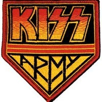 Kiss Army Logo Rock Roll Music Band Embroidered Iron On Patch