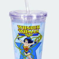 Wonder Woman Cup w/Straw