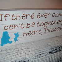 Art for the Nursery, WINNIE THE POOH Quote Sign, by AndTheSignSays