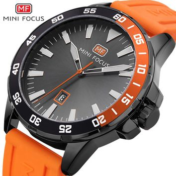 MINIFOCUS Luxury Brand Military Watches Men Quartz Analog 3D Face Leather Clock Man Sports Watches Army Watch Relogios Masculino