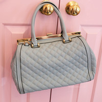 Fashion Week Mint Quilted Purse
