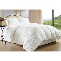Clara Clark Down Alternative White 3-piece Comforter Set | Overstock.com Shopping - The Best Deals on Comforter Sets