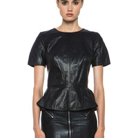 Leather Top in Black