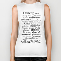 Dancer Description Biker Tank by Rebekah Joan