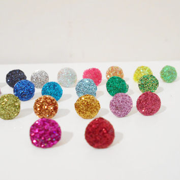 100 Glitter Thumb Tacks : Choose Your Own Colors