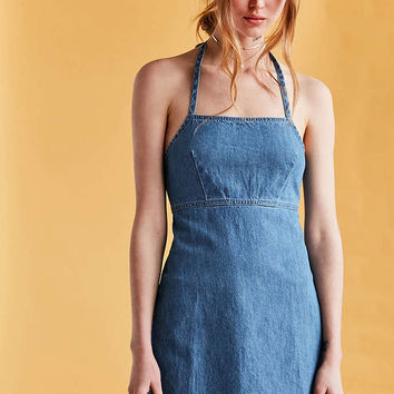 BDG Denim Halter Mini Dress - Urban Outfitters