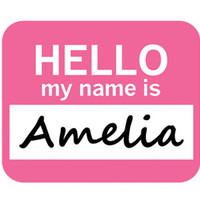 Amelia Hello My Name Is Mouse Pad