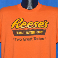 80s Reese's Peanut Butter Cups Candy Logo t-shirt Large