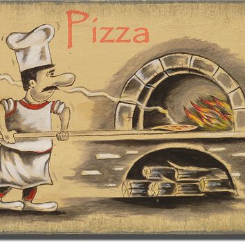 Pizza Maker Pizzeria, Wall Picture Art on Acrylic Ready to Hang!