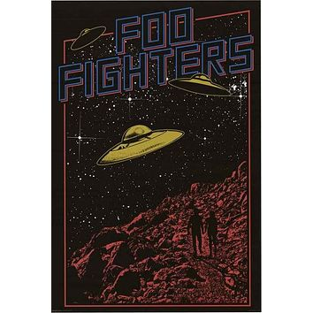 Foo Fighters UFO Pop Art Poster 24x36