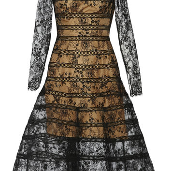 Oscar de la Renta - Chantilly lace midi dress