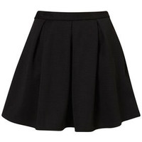 Black Ribbed Pleated Skirt - Back In Stock  - New In