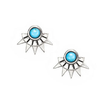 Sun Ray Studs in sterling silver