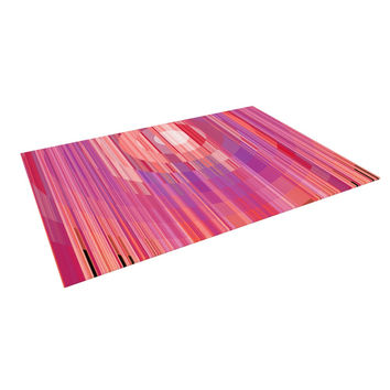 "Nina May ""Mohave Sun"" Pink Geometric Indoor / Outdoor Floor Mat"