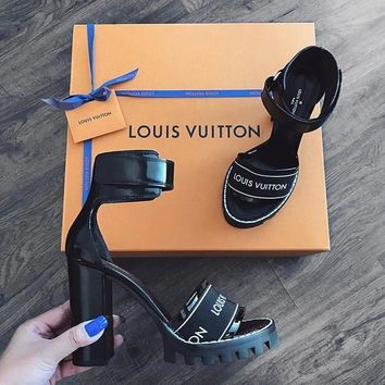Louis Vuitton Women Fashion Casual Heels Shoes Sandals Shoes