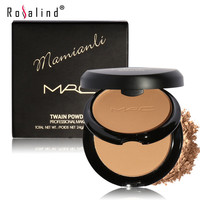 Rosalind New Base Face Twain Powder Palette Long-wearing Oil-Control Face Make Up Cosmetic for Girl Brand MRC