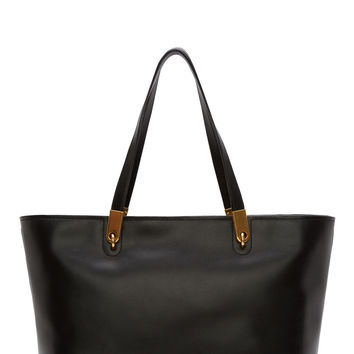 Marc By Marc Jacobs Black Leather Tote Bag