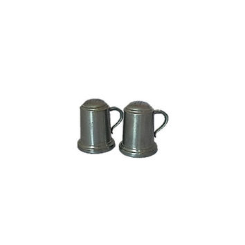 Vintage Pewter Salt and Pepper Shackers by Web Pewter |  Mug Salt & Pepper Shakers Tankard Style