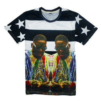 Biggie Smalls Character Printed 3D T Shirt