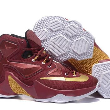 Nike Zoom LeBron James 13 Red / Gold Basketball Shoes