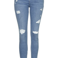 MOTO Bleach Authentic Ripped Jeans - Bleach Stone