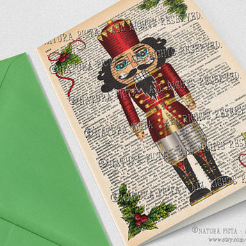 The Nutcracker Merry Christmas Greeting Card-Nutcracker 4x6 card-Casse-noisette card-Holidays card-Stationery card- by NATURA PICTA NPGC075