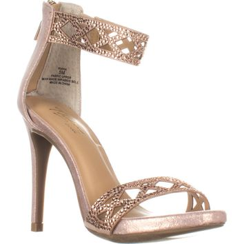 TS35-Riana Ankle Strap Heels , Rose Gold, 5 US, Rose Gold, 5 US