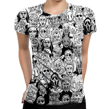 Horror Villains Womens T-Shirt